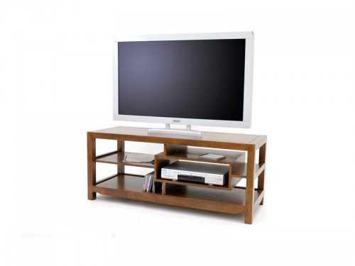 meuble tv moderne moka 3 plateaux 1