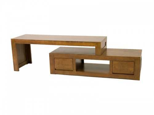 meuble tv oscar 2 tiroirs avec banc