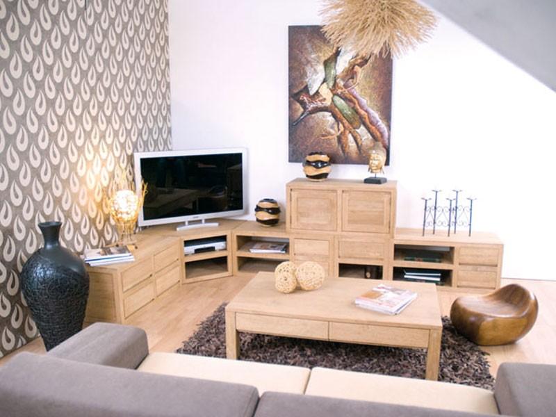 meuble tv d angle oscar 2 niches en