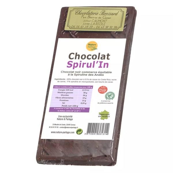 Chocolat noir Spiruline