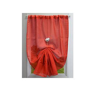 paire de rideaux vitrage etamine givree 60x140 cm