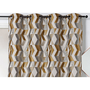 rideau chloe polyester 135x240 pret a poser a oeillets ronds