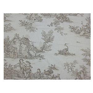tissu toile de jouy pastorale largeur 280 cm
