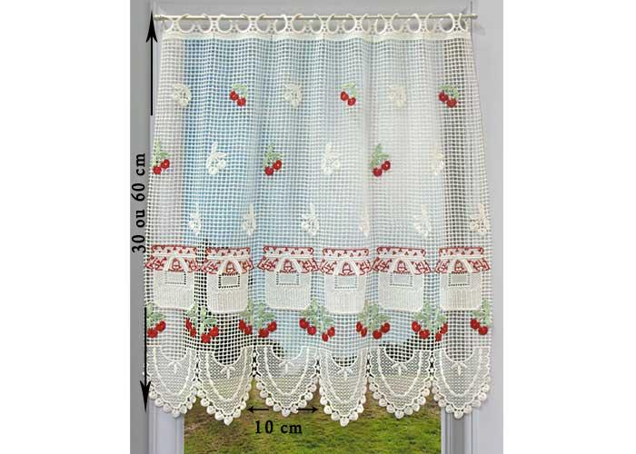 petit rideau cantonniere macrame motif pot de confiture