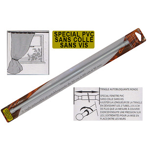 tringle a vitrage extensible blanche speciale pvc ni colle ni vis