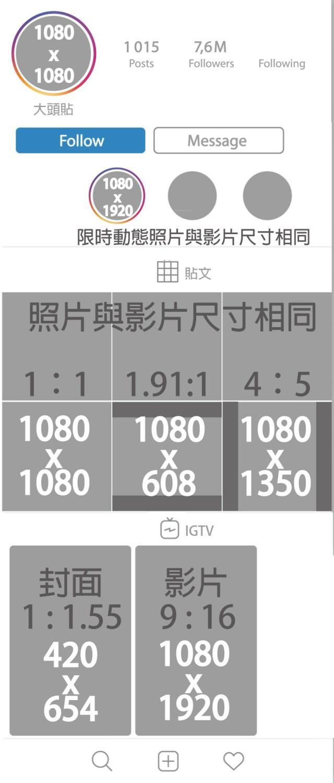 IG貼文尺寸