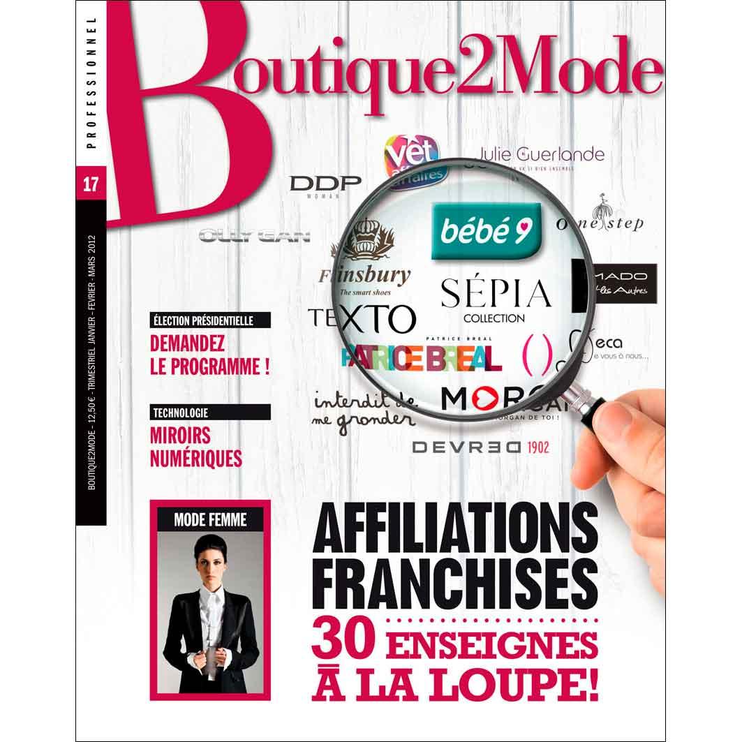 B2M 17 – Affiliations/Franchises, 30 enseignes à la loupe