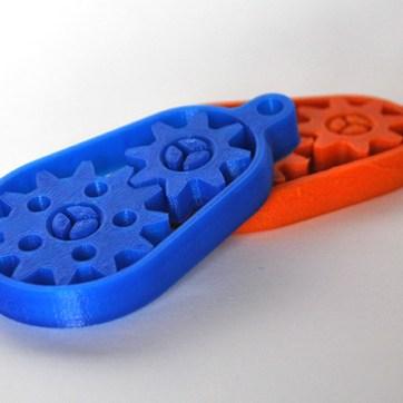 Peças de plástico PLA e ABS.