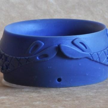 Pulseira impressa em resina para fundição.