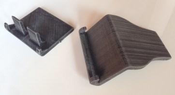 Peças impressas em impressora 3D FFF e lixadas.