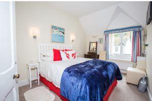 Bedroom, blue blanket – Westleigh, a stunning B&B in Beer, Devon