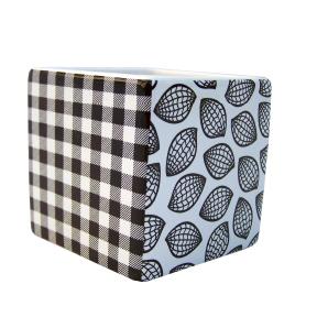 Cache-pot design noir et blanc