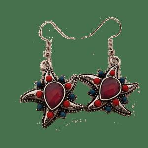 Boucles d'oreilles étoile de mer violet