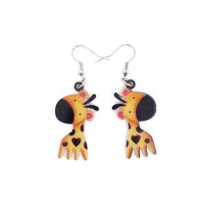 Boucles d'oreilles girafe