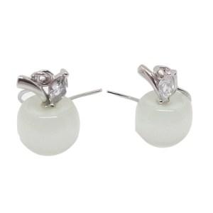 Boucles d'oreilles pommes blanches