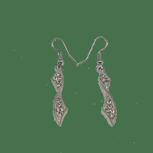 Boucles d'oreilles tourbillon argentées
