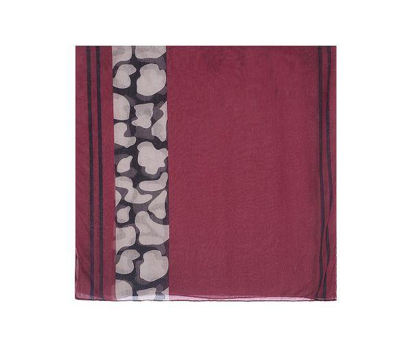 Foulard XL rouge et noir motif