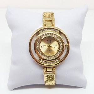Montre bracelet metal doré