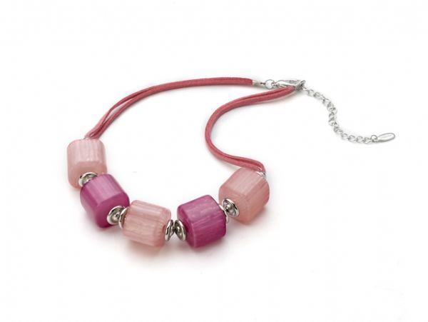 Lily La Bijoux De Collier Grosses Boutique Fantaisie Perles Rose TFKlc3u1J