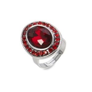 Bague antique pierre rouge