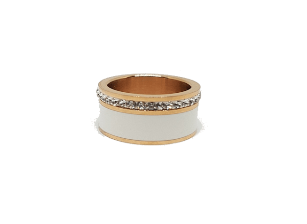 Bague céramique bicolore
