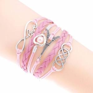 Bracelet Rose Love Tour Eiffel