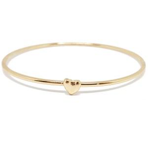 Bracelet fin motif cœur doré