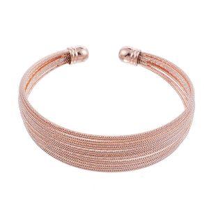 Bracelet jonc or rose