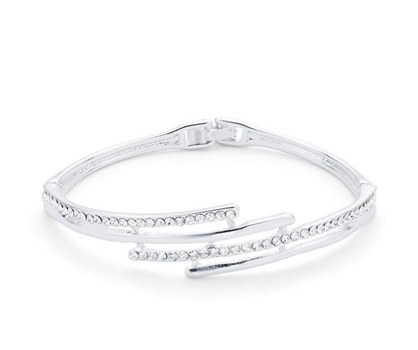 Bracelet rigide Strass - Argenté