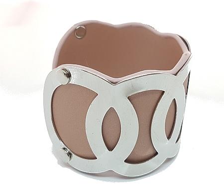 Manchette cercles entrelacés simili cuir blush cote