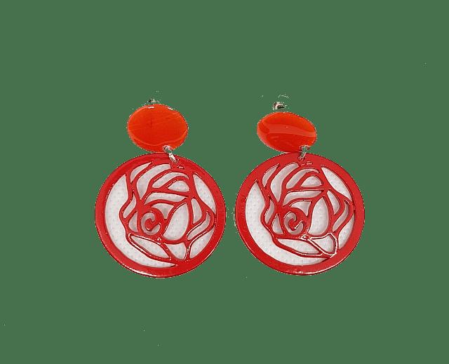 Boucles d'oreilles fantaisie pendantes colorées