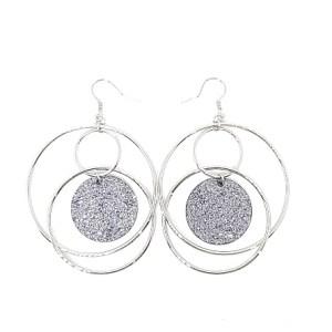 Boucles d'oreilles anneau pailletté