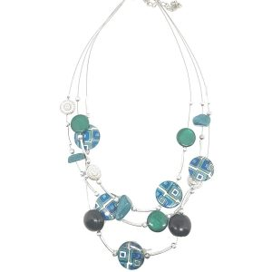 Collier Perles rondes pierre