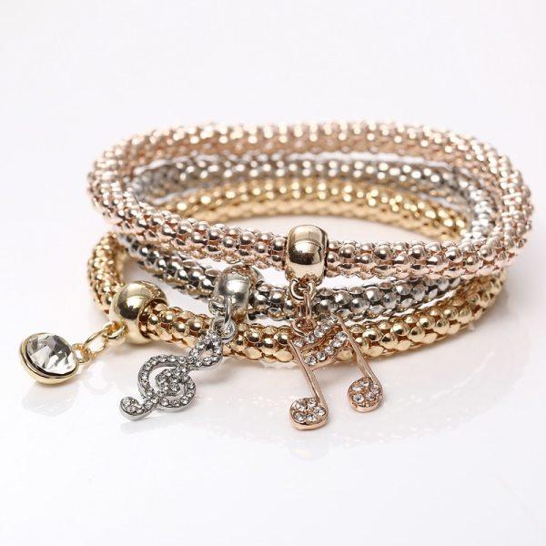 Bracelets charms musique