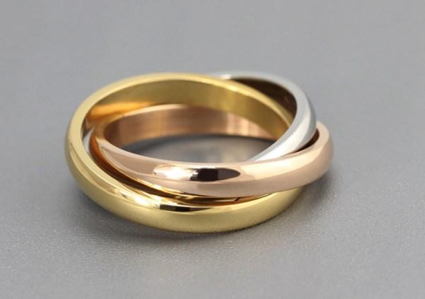 anneaux entrelacés face