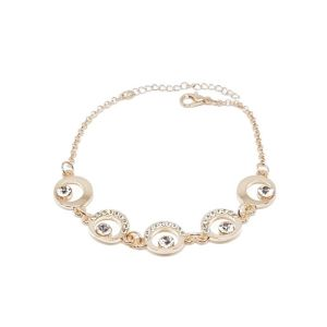 Bracelet cercles strass rose gold
