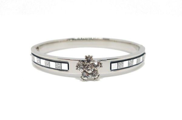 Bracelet fleur strass