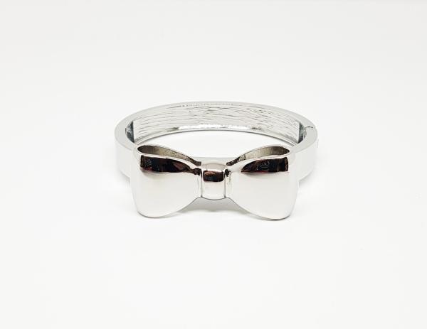 Bracelet argenté noeud papillon
