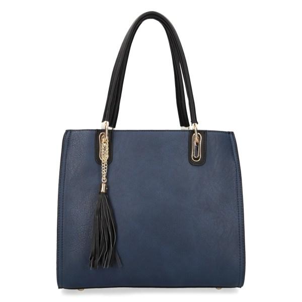 grand sac à main bleu