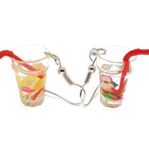 Boucles d'oreilles cocktail fraise