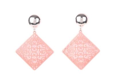 Boucles d'oreilles métal roses