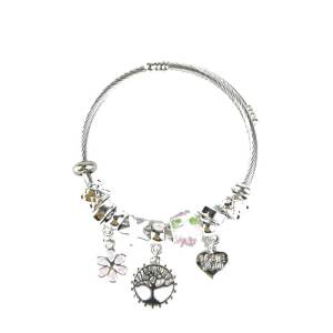 Bracelet rose arbre de vie