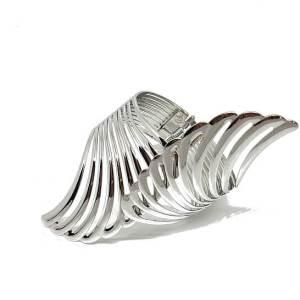 Manchette ailes d'ange argentée