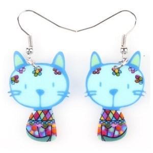boucles d'oreilles petit chat