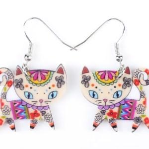 Boucles d'oreilles chaton