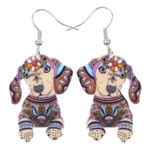 Boucles d'oreilles chien Teckel