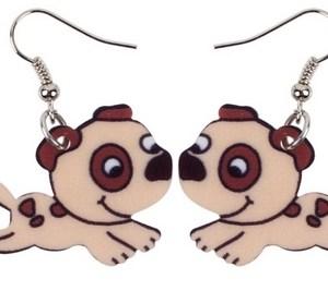 Boucles d'oreilles chien tacheté
