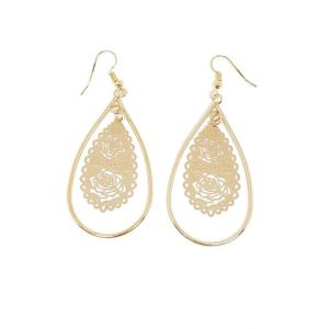 Boucles d'oreilles filigrane or
