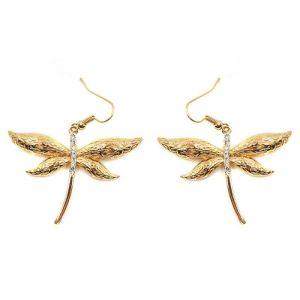 Boucles d'oreilles libellule dorée