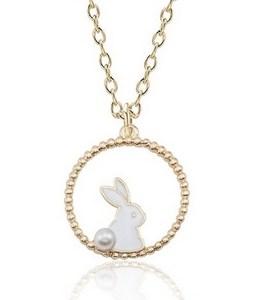 Collier lapin blanc